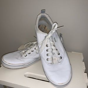 Size 8 white womens leather Keds comfort soft